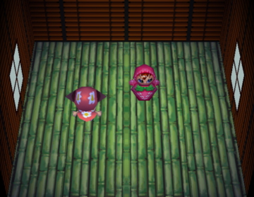 Interior of Faith's house in Animal Crossing