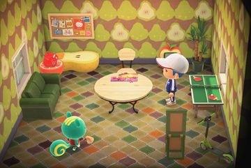 Interior of Nibbles's house in Animal Crossing: New Horizons