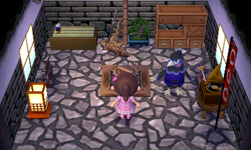 Interior of Ken's house in Animal Crossing: New Leaf