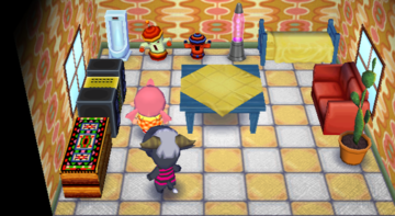 Interior of Rodeo's house in Animal Crossing: City Folk