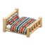 Log Bed (White Wood - Geometric Print)
