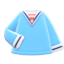 Sailor-Style Shirt (Light Blue) NH Icon.png