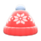 Snowy Knit Cap (Red) NH Icon.png