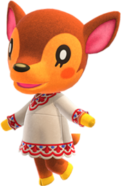Fauna, an Animal Crossing villager.