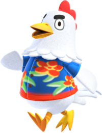 Goose, an Animal Crossing villager.