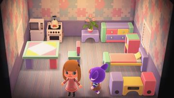 Interior of Sydney's house in Animal Crossing: New Horizons