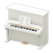 Upright Piano (White) NH Icon.png