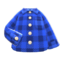 Flannel Shirt (Blue) NH Icon.png