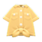 Front-Tie Button-Down Shirt (Yellow) NH Icon.png