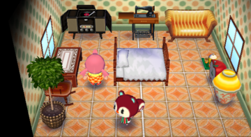 Interior of Poppy's house in Animal Crossing: City Folk