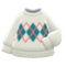 Argyle Sweater (White) NH Icon.png