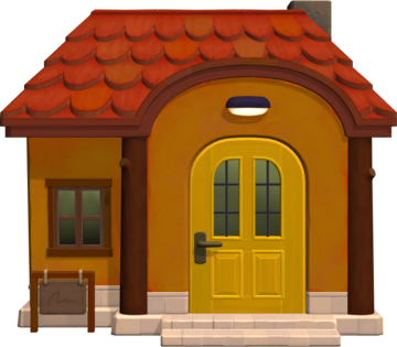 Exterior of Bettina's house in Animal Crossing: New Horizons