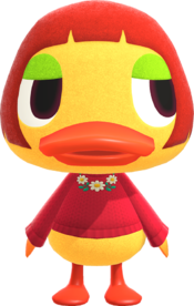 Maelle, an Animal Crossing villager.