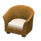 Rattan Armchair (Brown) NH Icon.png