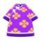 Silk Floral-Print Shirt (Purple) NH Icon.png