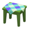 Wooden Mini Table (Green - Blue) NH Icon.png