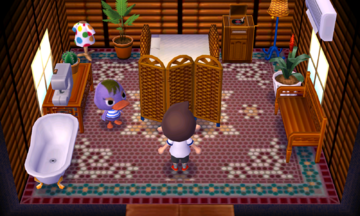 Interior of Mallary's house in Animal Crossing: New Leaf