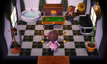 Interior of Olaf's house in Animal Crossing: New Leaf