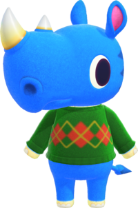 Hornsby, an Animal Crossing villager.