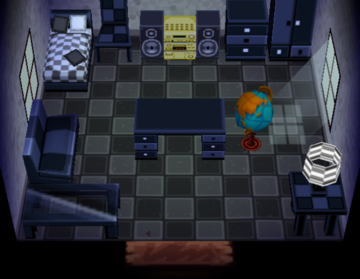 Interior of Ed's house in Animal Crossing