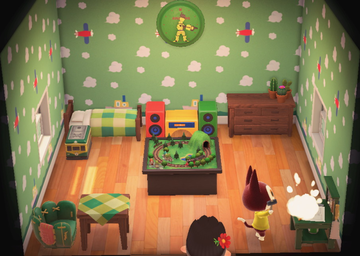 Interior of Rudy's house in Animal Crossing: New Horizons