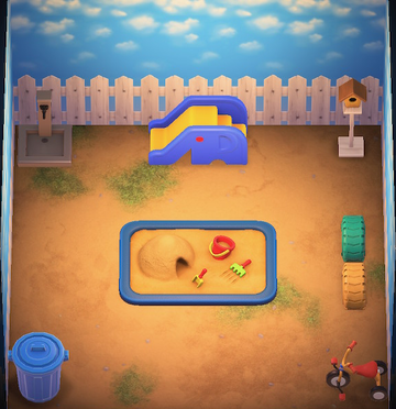 Interior of Sparro's house in Animal Crossing: New Horizons