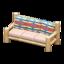 Log Extra-Long Sofa (White Wood - Geometric Print)
