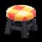 Wooden Stool (Black - Orange) NH Icon.png