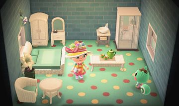 Interior of Mint's house in Animal Crossing: New Horizons