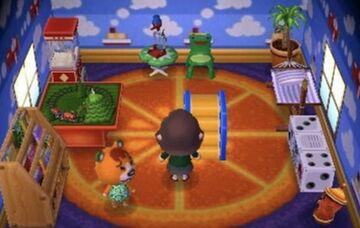 Interior of Pudge's house in Animal Crossing: New Leaf