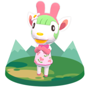 Chelsea, an Animal Crossing villager.