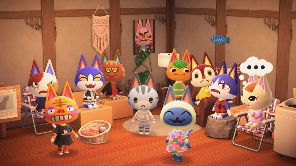 animal crossing new horizons cat villagers