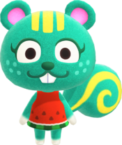 Nibbles, an Animal Crossing villager.