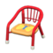 Baby Chair (Red - Butterfly) NH Icon.png