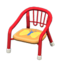 Baby Chair (Red - Butterfly)