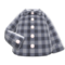 Gingham Picnic Shirt (Gray) NH Icon.png