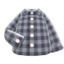 Gingham Picnic Shirt (Gray) NH Icon.png