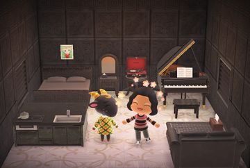 Interior of Nan's house in Animal Crossing: New Horizons