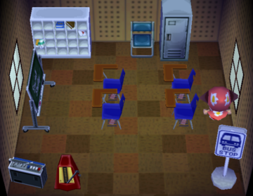 Interior of Ozzie's house in Animal Crossing