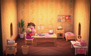 Interior of Stella's house in Animal Crossing: New Horizons