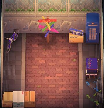 Interior of Stu's house in Animal Crossing: New Horizons