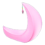 Crescent-Moon Chair (Pink)