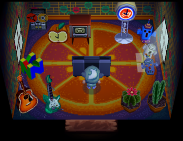 Interior of Bangle's house in Animal Crossing