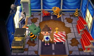 Interior of Rocco's house in Animal Crossing: New Leaf
