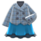 Peacoat-and-Skirt Combo (Blue) NH Icon.png