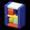 Wooden-Block Bookshelf (Vivid) NH Icon.png