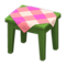 Wooden Mini Table (Green - Pink) NH Icon.png