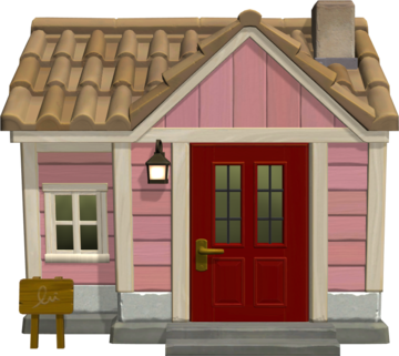 Exterior of Bitty's house in Animal Crossing: New Horizons