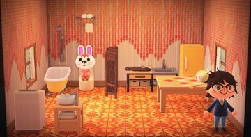 Interior of Gabi's house in Animal Crossing: New Horizons