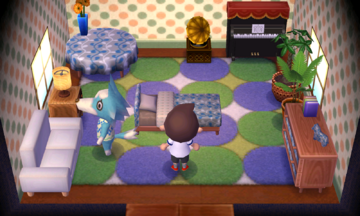 Interior of Skye's house in Animal Crossing: New Leaf